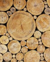 Stacked Round Logs wallpaper mural thumbnail