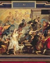 The Apotheosis of Henri IV and the Proclamation of the Regency of Marie de Medici, 1622-25 (oil on canvas) wallpaper mural thumbnail