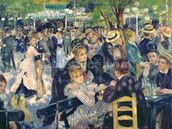 Ball at the Moulin de la Galette, 1876 (oil on canvas) wall mural thumbnail