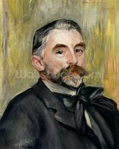 Portrait of Stephane Mallarme (1842-98) 1892 (oil on canvas) wallpaper mural thumbnail