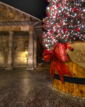 Covent Garden Christmas mural wallpaper thumbnail