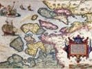 Map of Zeeland, c.1560 (hand coloured engraving) wall mural thumbnail