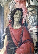 St. John the Baptist, detail from the Altarpiece of St. Barnabas c.1487 (tempera on panel) wall mural thumbnail