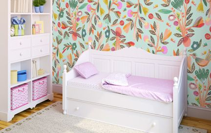 Girls Wallpaper. Wall Mural Wallpaper