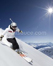 Female Skier mural wallpaper thumbnail