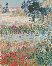 Garden in Bloom, Arles, July 1888 (oil on canvas) wall mural thumbnail