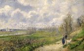La Sente du Chou, near Pontoise, 1878 (oil on canvas) mural wallpaper thumbnail