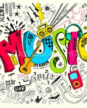 Music Doodle wall mural thumbnail