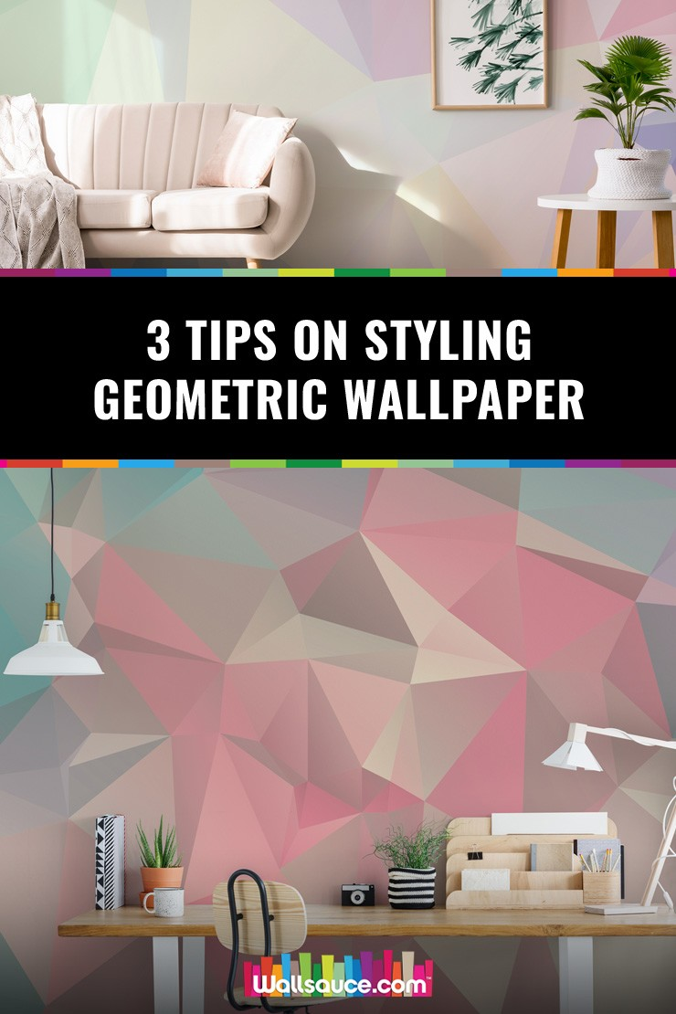 Don't buy geometric wallpaper until you've read these three tips on styling it
