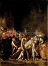 Resurrection of Lazarus (oil on canvas) (also see 232098,94,95) wallpaper mural thumbnail