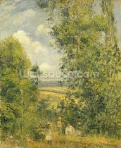A Rest in the Meadow, 1878 (oil on canvas) wall mural thumbnail