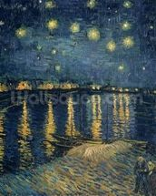 Starry Night over the Rhone, 1888 (oil on canvas) wall mural thumbnail