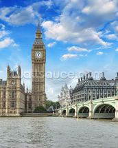 Westminster Bridge and Houses of Parliament mural wallpaper thumbnail