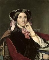 Madame Gonse, 1852 (oil on canvas) wall mural thumbnail