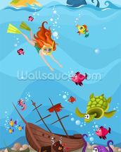 Seascape wallpaper mural thumbnail