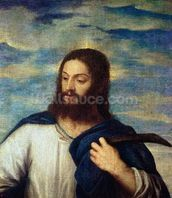 The Saviour, c.1553 (oil on canvas) wallpaper mural thumbnail
