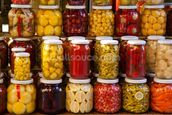 Jars of Pickles mural wallpaper thumbnail