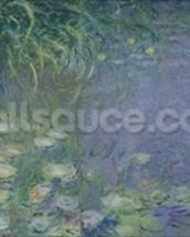Waterlilies: Morning, 1914-18 (left section) wall mural thumbnail