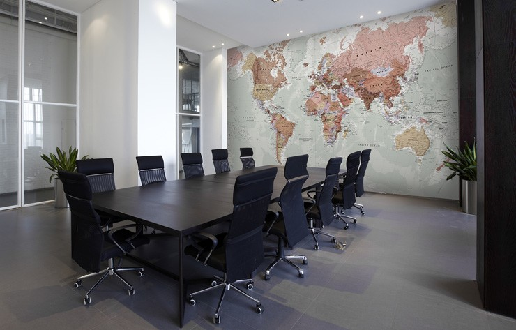 Map-wallpaper-in-boardroom