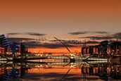 Liffey Sunrise wallpaper mural thumbnail