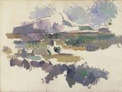 Montagne Sainte-Victoire, 1904-05 (oil on canvas) wallpaper mural thumbnail