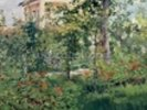 The Garden at Bellevue, 1880 (oil on canvas) wall mural thumbnail