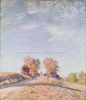 Uphill Road in Sunshine, 1891 (oil on canvas) mural wallpaper thumbnail
