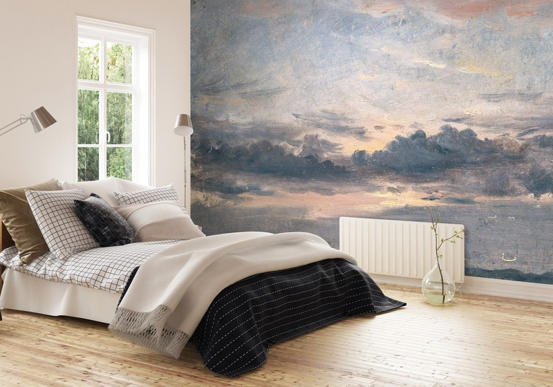 cloud-wallpaper-guest-bedroom