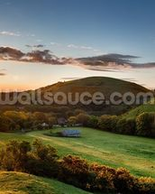 Corfe Castle Sunrise wall mural thumbnail