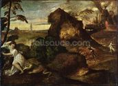 Orpheus and Eurydice (oil on canvas) mural wallpaper thumbnail