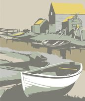 Southwold Harbour 2 mural wallpaper thumbnail
