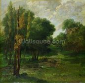 Forest Landscape, 1864 (oil on canvas) wall mural thumbnail