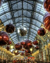 Covent Garden Christmas Baubles wallpaper mural thumbnail