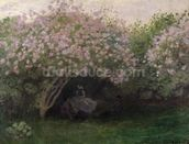 Lilacs, Grey Weather, 1872 (oil on canvas) wallpaper mural thumbnail