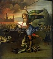 St. Michael, c.1503-05 (oil on panel) (see also 15971) mural wallpaper thumbnail