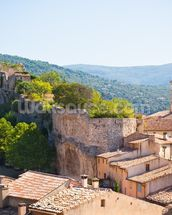 Provence - View of Saint Saturnin les d Apt mural wallpaper thumbnail