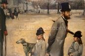 Place de la Concorde, 1875 (oil on canvas) wallpaper mural thumbnail