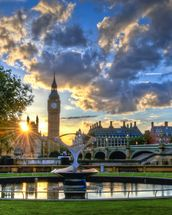 Sunset over Westminster mural wallpaper thumbnail