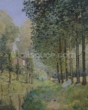 The Rest by the Stream. Edge of the Wood, 1872 (oil on canvas) wall mural thumbnail