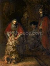 Return of the Prodigal Son, c.1668-69 (oil on canvas) mural wallpaper thumbnail