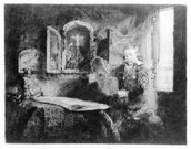 Portrait of Abraham Francen, c.1657 (etching) wall mural thumbnail