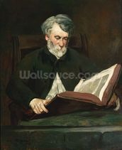 The Reader, c.1861 (oil on canvas) wall mural thumbnail