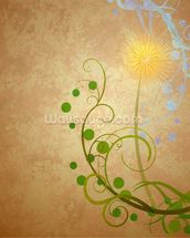 Dandelion Illustration wallpaper mural thumbnail
