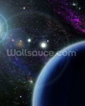 Two Blue Planets wall mural thumbnail