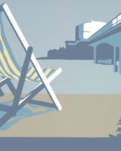 Bournemouth Pier and Deckchairs wall mural thumbnail