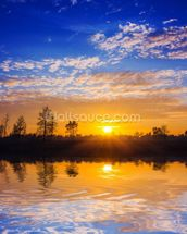 Sunset Reflection wallpaper mural thumbnail