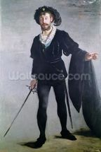 Jean Baptiste Faure (1830-1914) as Hamlet, 1877 (oil on canvas) wallpaper mural thumbnail