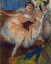 Seated Dancer, 1879-80 (pastel on cardboard) mural wallpaper thumbnail