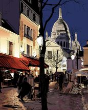 Montmartre in Winter wall mural thumbnail