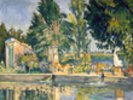 Jas de Bouffan, the pool, c.1876 (oil on canvas) wall mural thumbnail